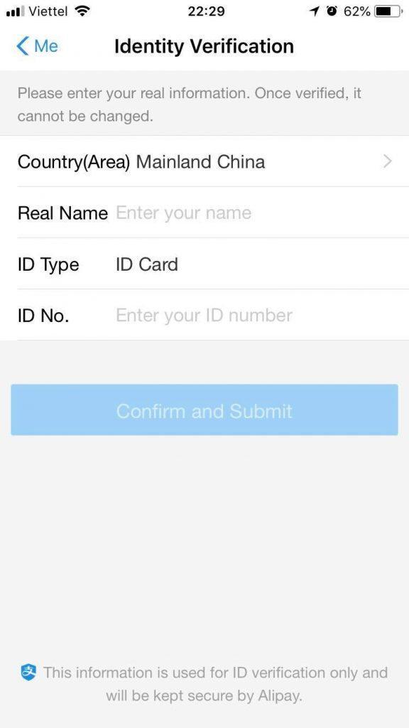 App Alipay trên điện thoại